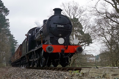 Train on Standen Walk